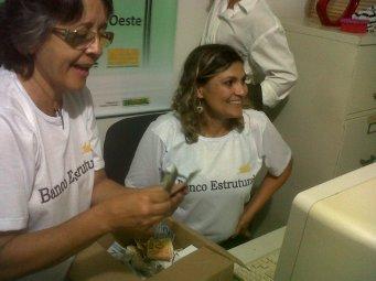 Deuzani e Solange, integrantes do Comitê Gestor do Banco Estrutural